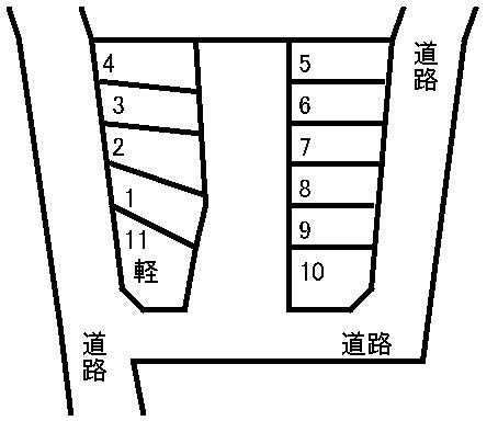 立山駐車場 敷地図