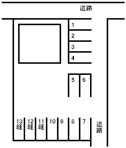 国府1丁目駐車場 敷地図