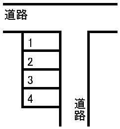 大久保駐車場 敷地図