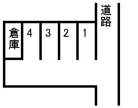 松本京塚駐車場 敷地図