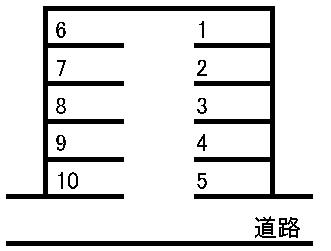 水前寺駅北駐車場 敷地図