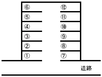 国府本町駐車場 敷地図