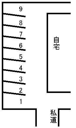 中村駐車場 敷地図