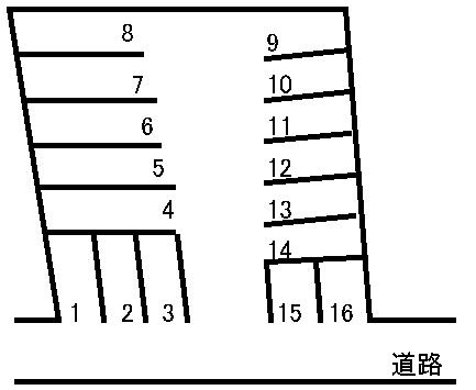 松本駐車場 敷地図