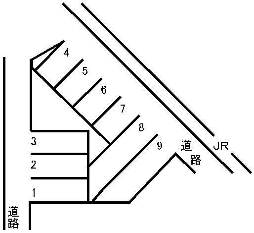 新水前寺駅駐車場 敷地図