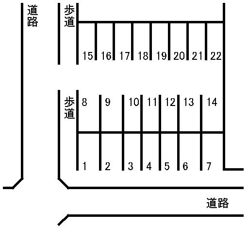 参道駐車場 敷地図