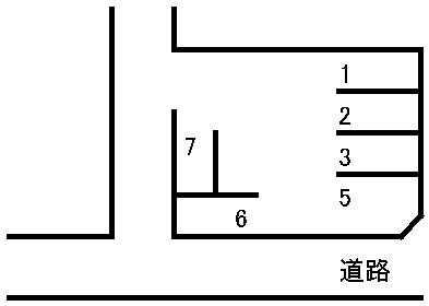 桜木4丁目駐車場 敷地図