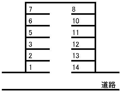 矢野駐車場 敷地図