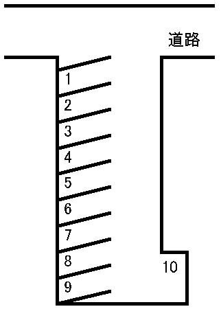 大江本町駐車場 敷地図