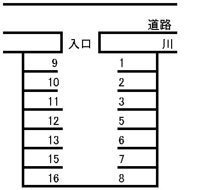 伊藤駐車場 敷地図