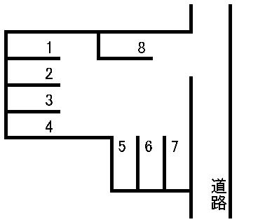 国府第2駐車場 敷地図