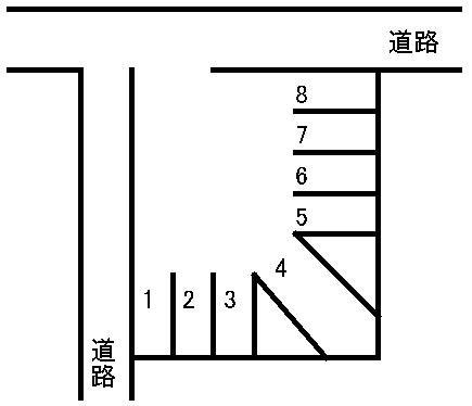 清水新地駐車場 敷地図