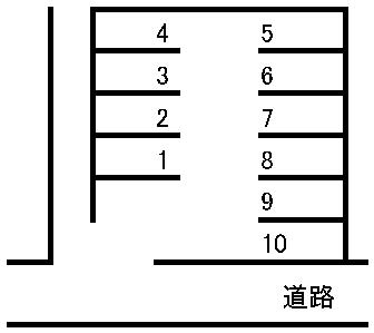 県庁西駐車場 敷地図