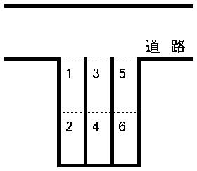 八王寺通り駐車場 敷地図