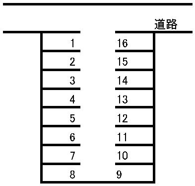中野駐車場 敷地図