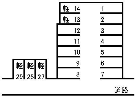 大濱駐車場 敷地図