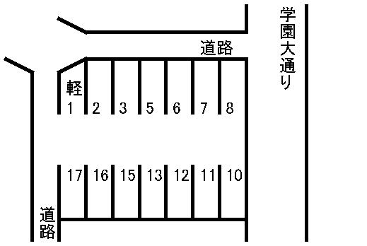 大江3丁目駐車場 敷地図