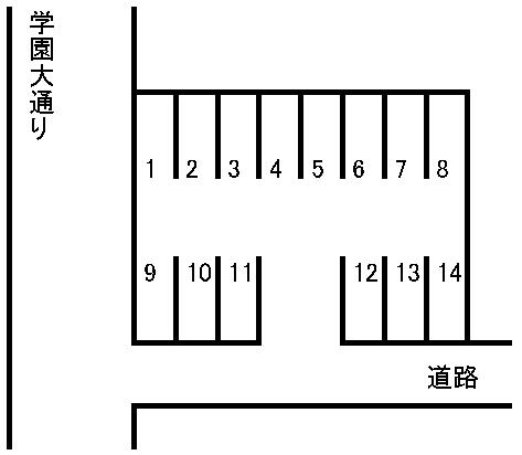 県劇横駐車場 敷地図